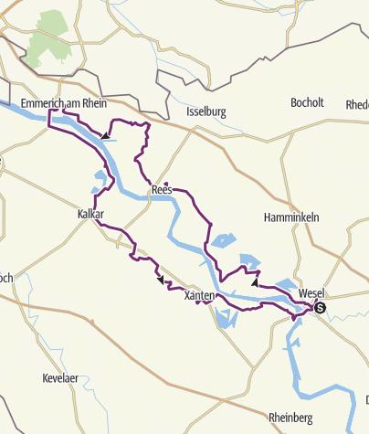 Mapa / Wesel-Emmerich Wesel