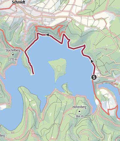 Nationalpark Eifel Karte.Staudamm Schwammenauel Kurze Touren Nationalpark Eifel Wanderung