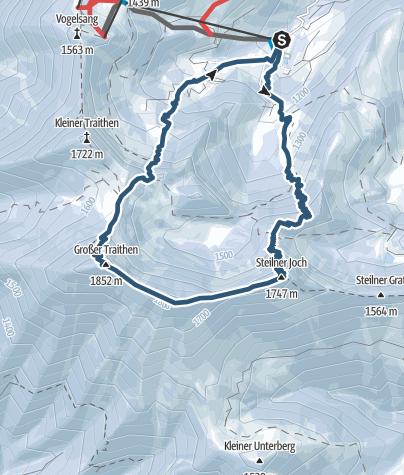 Karte / Skitour zum Grossen Traithen
