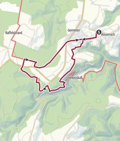 Karte / Auf den Spuren der Schlacht im Hürtgenwald (Region  Rureifel)