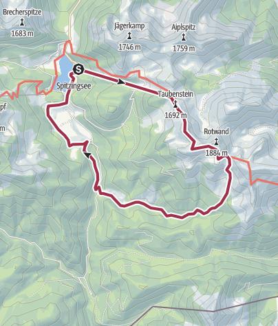 Karte / Bergwanderung uur Rotwand und zum Rotwandhaus