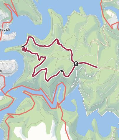 Karte / Über den Kermeter (Tippeltouren Eifel)