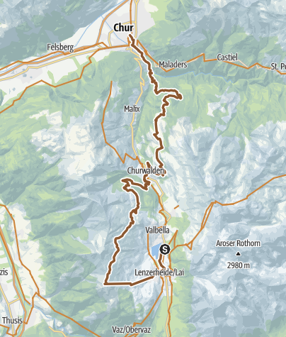 Karte / KtGR #5a Lenzerheide Piz_Scalottas Chur