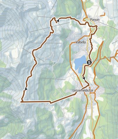 Karte / KtGR #5b Lenzerheide Piz_Scalotta Parpan Lenzerheide
