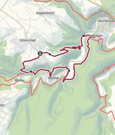 Karte / Heckenland-Route (Partnerweg Eifelsteig)
