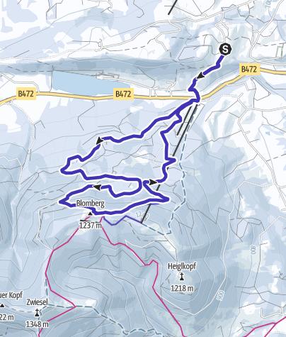 Karte / Blomberg Winterwandern mit Rodelabfahrt