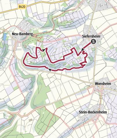 Karte / Bänkelches-Route