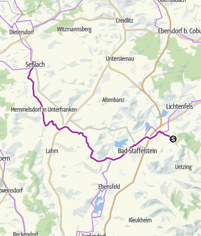 Karte / Vierzehnheiligen - Seßlach