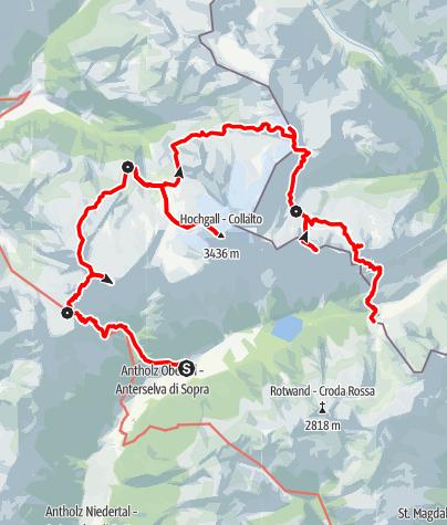 Map / Durchquerung der Rieserfernergruppe