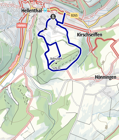 Karte / Wanderweg Nr.7. EIfelverein OG Hellenthal