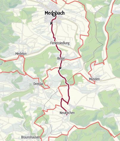 Karte / Medebach - Berge - Neukirchen
