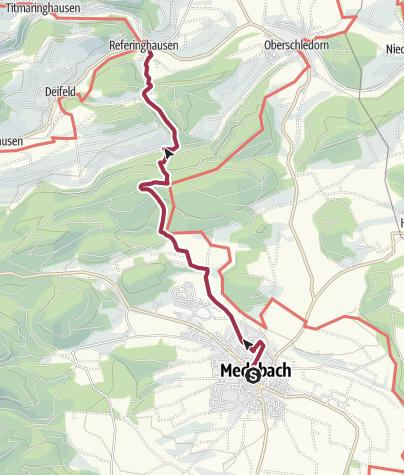Karte / Von Medebach nach Referinghausen