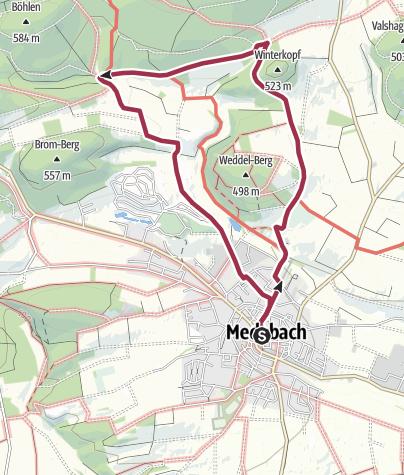 Karte / Medebach, M3-Kuckucksuhle - und Winterkopf