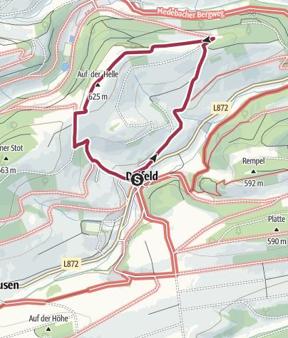 Karte / Deifeld, D2-Kentscheidweg