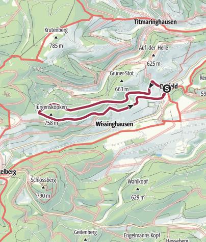 Karte / Deifeld, D4-Jürgensköpkenweg
