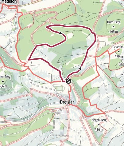 Karte / Dreislar, A11-Raunsbergweg