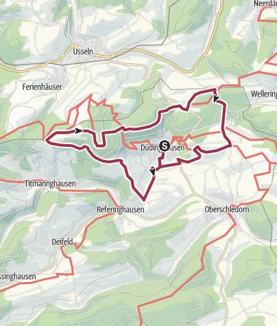 Karte / Düdinghausen, D-Rund um Düdinghausen