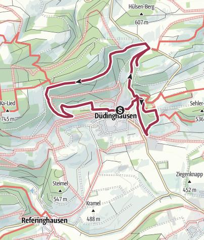 Karte / Düdinghausen, Geologischer Rundweg