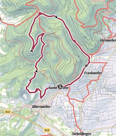 Karte / Pfälzer Rundwanderung mit Einkehr -  Landauer Hütte