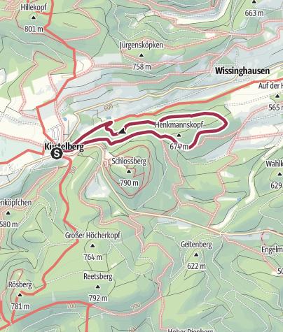 Karte / Küstelberg, K2-Henkmannskopfweg