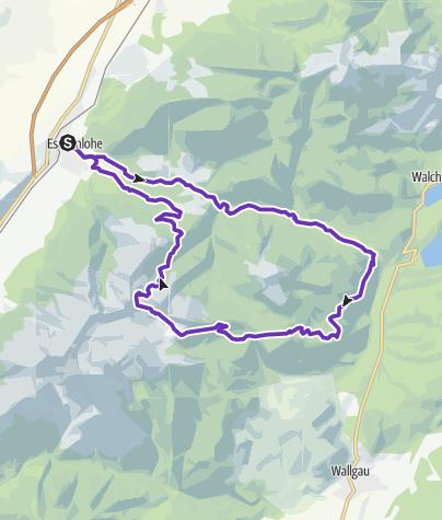 Karte / Eschenlaine-Simetsberg