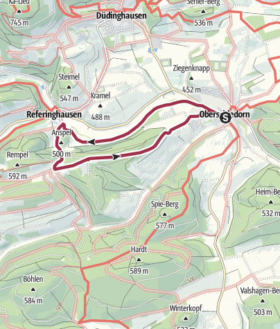 Karte / Oberschledorn, O5-Wilde-Ah-Weg