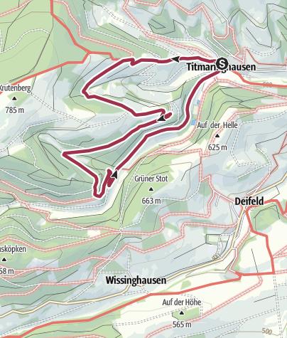 Karte / Titmaringhausen, T3-Krutenbergweg