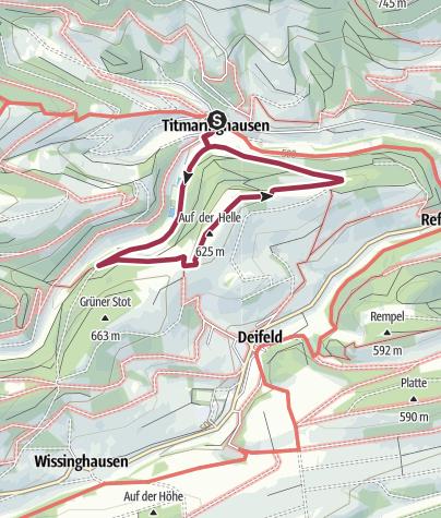 Karte / Titmaringhausen, T4-Twedbergweg