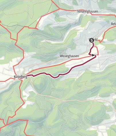 Karte / Von Deifeld nach Küstelberg