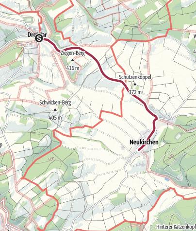 Karte / Von Dreislar nach Neukirchen