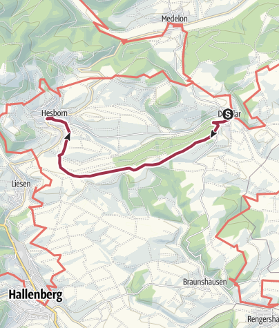 Karte / Von Dreislar nach Hesborn