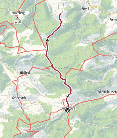 Karte / Von Küstelberg nach Willingen (Ettelsberg)