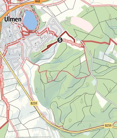 Karte / Bienenlehrpfad Ulmen