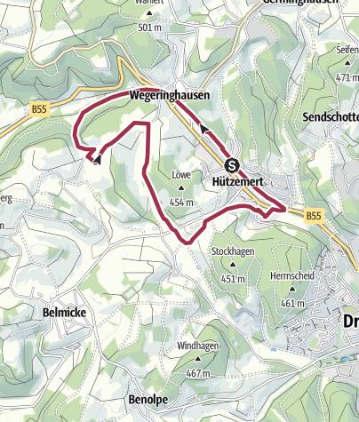 Karte / SGV Drolshagen - Wanderweg A1