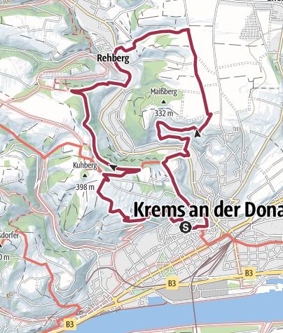Karte / Krems-Rehberg