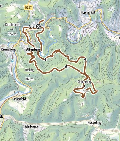 Mapa / Steinerberg-Horn