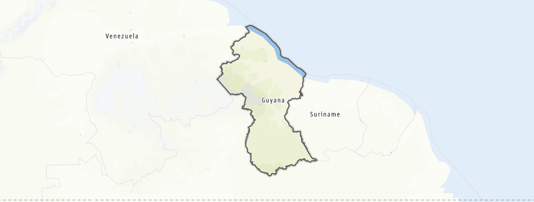 Carte / Guyana