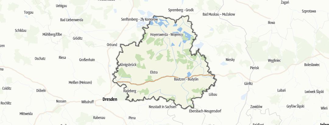 Карта / Паломнические передвижения в Bautzen