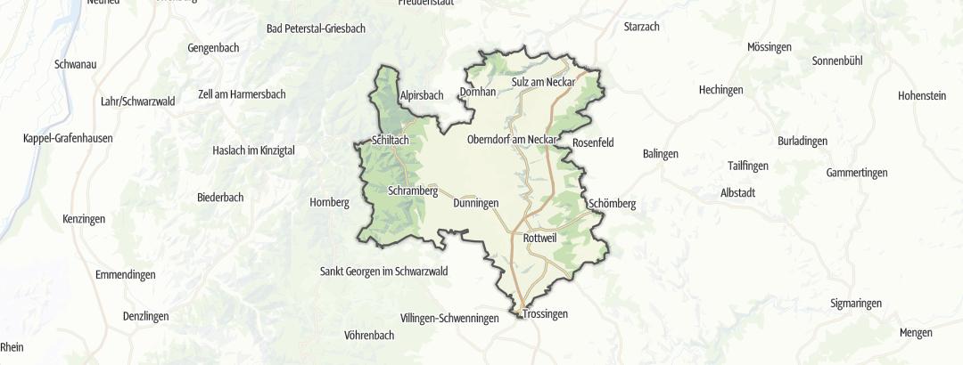 Karte / Wanderungen in Rottweil