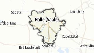 Cartina / Halle (Saale)