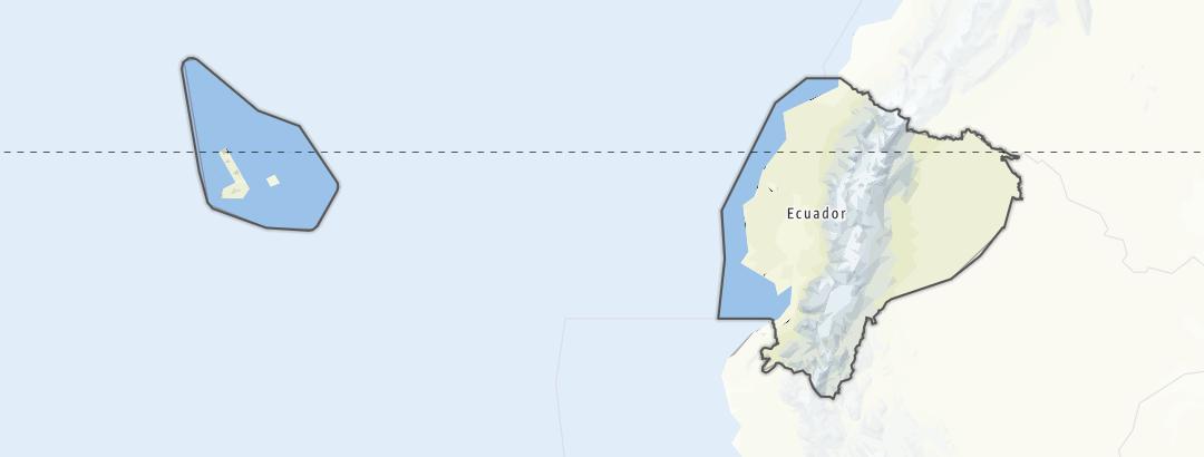 Kart / Tinderangling i Ecuador