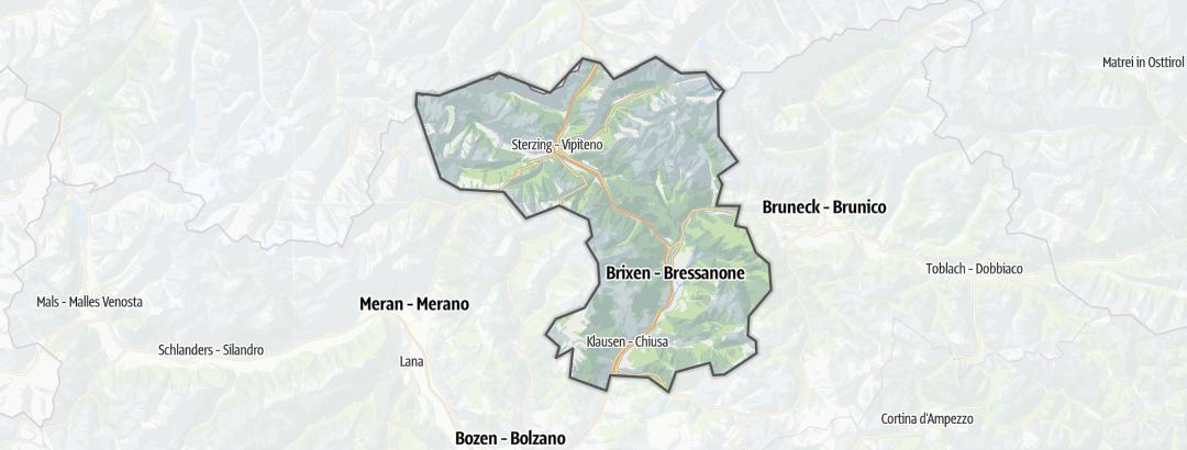 Mapa / Cesty pro alpské lezení v oblasti Eisacktal/Südtirol