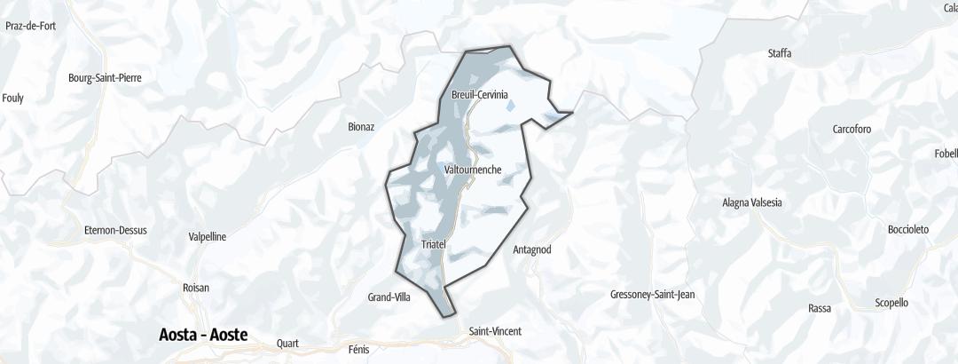 地图 / 在Matterhorn里的冬季活动