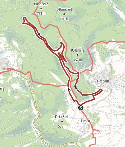 Karte / Naturweg Liesetal in Hallenberg-Liesen