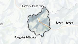 Karte / Mont Blanc und La Thuile