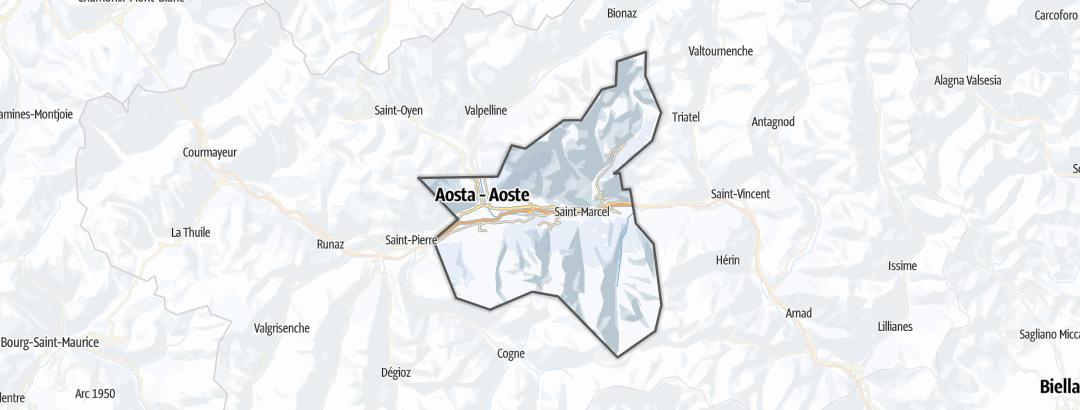 地图 / 在Aosta-Pila里的冬季活动