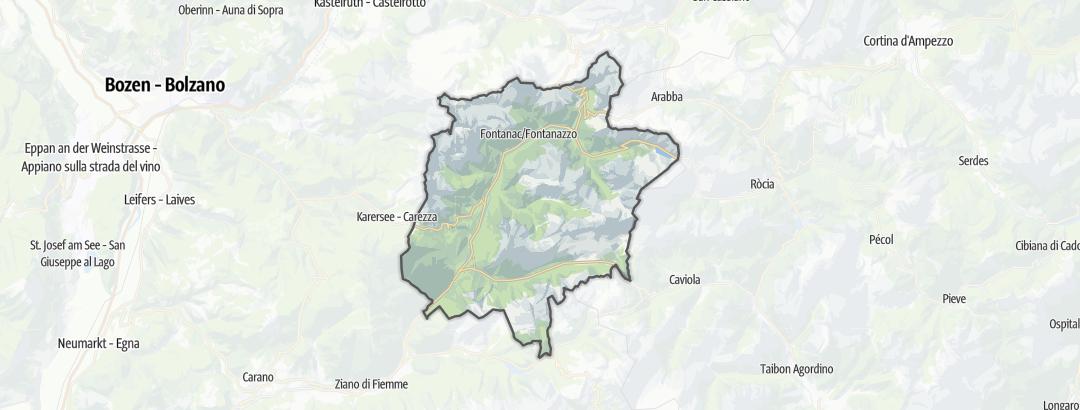 Karte / Bergtouren im Val di Fassa