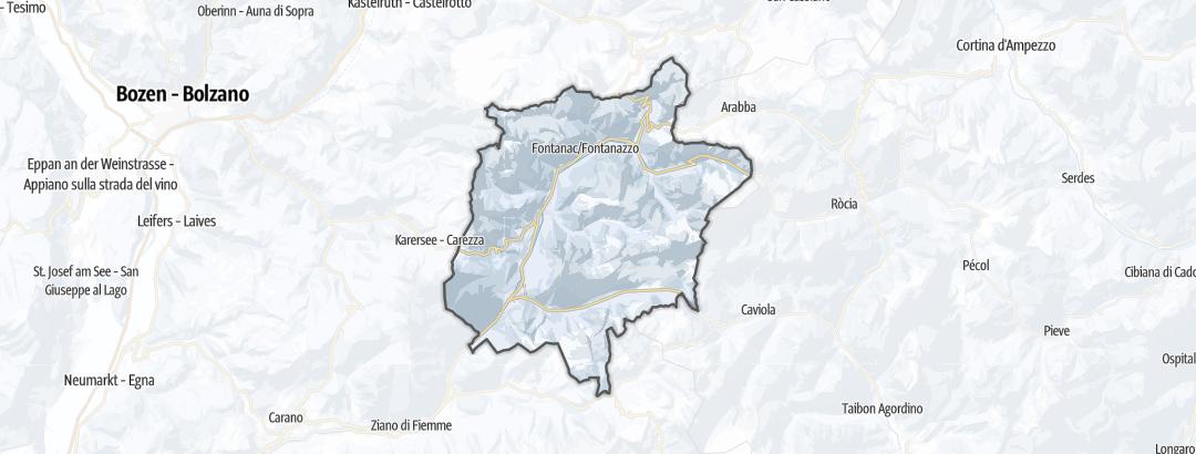 Kartta / Vapaalaskureitit kohteessa Val di Fassa