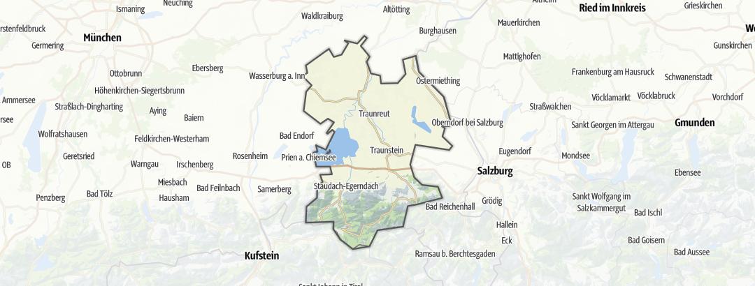 地图 / 在Chiemgau里的山中小屋