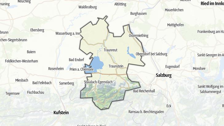 Karte / Trailrunning-Strecken im Chiemgau